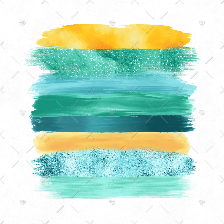 Surfer Girl Brush Strokes example image 2