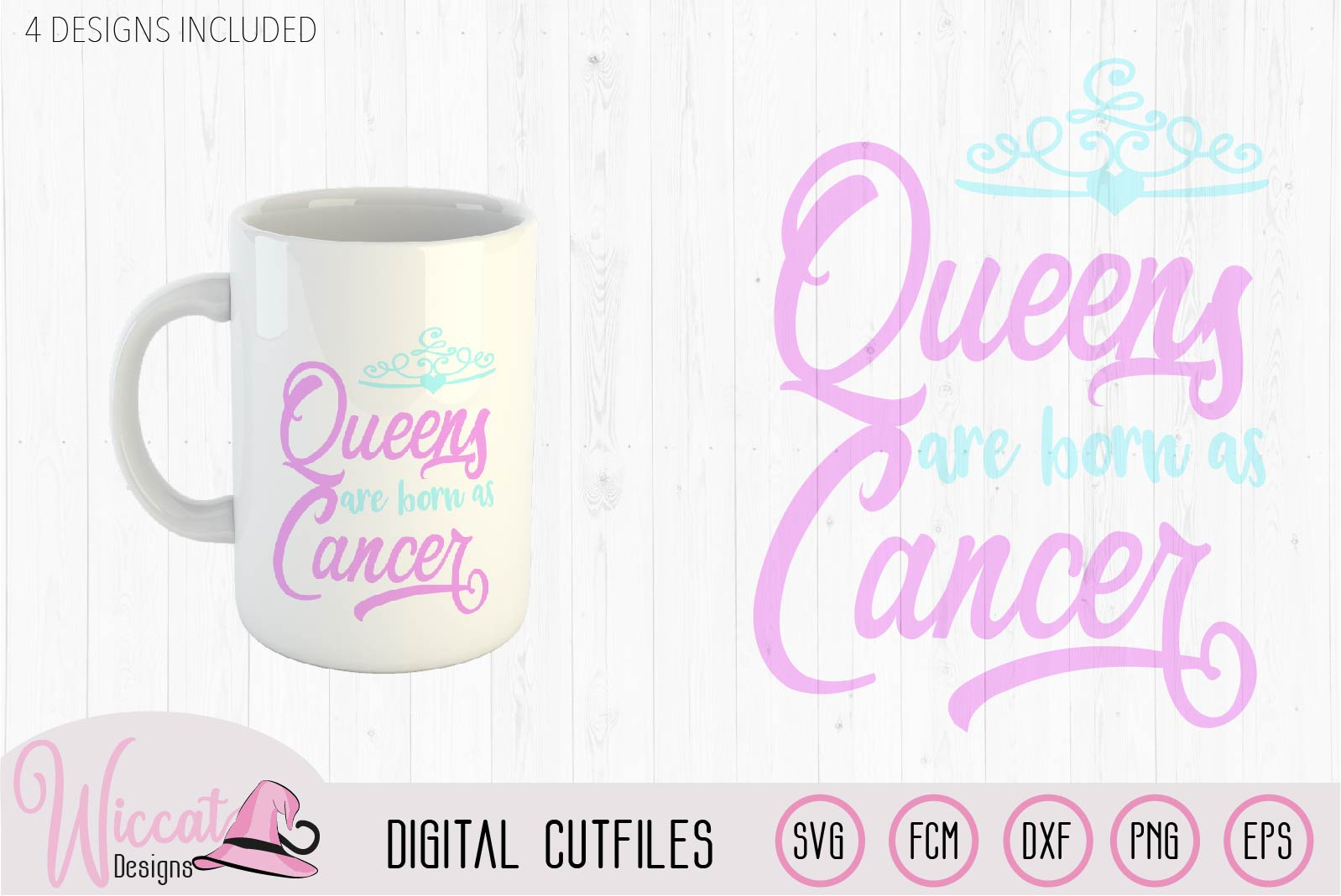 Cancer Zodiac quote svg, Queens are born as svg, word art example image 3