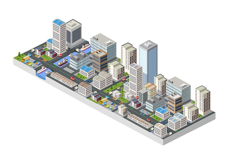 Large isometric city example image 1