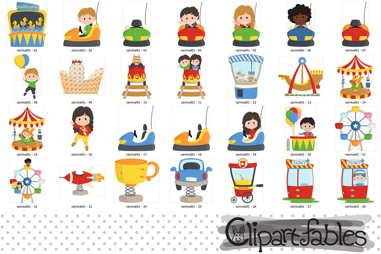 Cute CARNIVAL clipart, Amusement park - Roller-coaster example image 2
