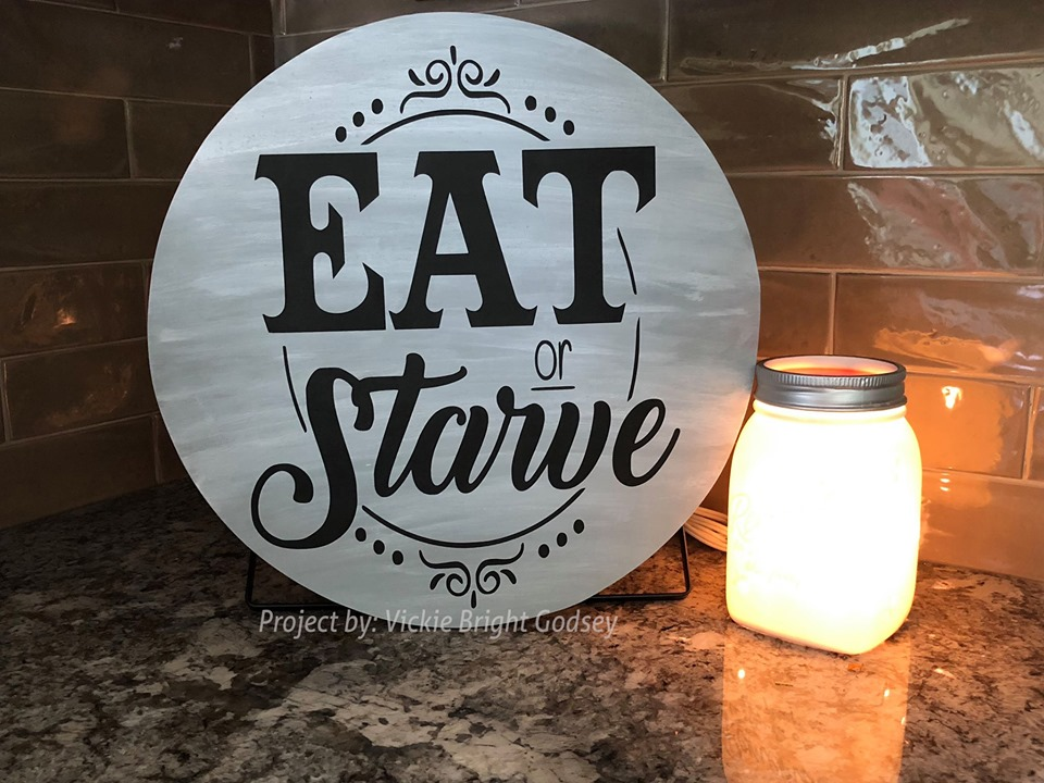 Eat Or Starve Funny Farmhouse SVG example image 2