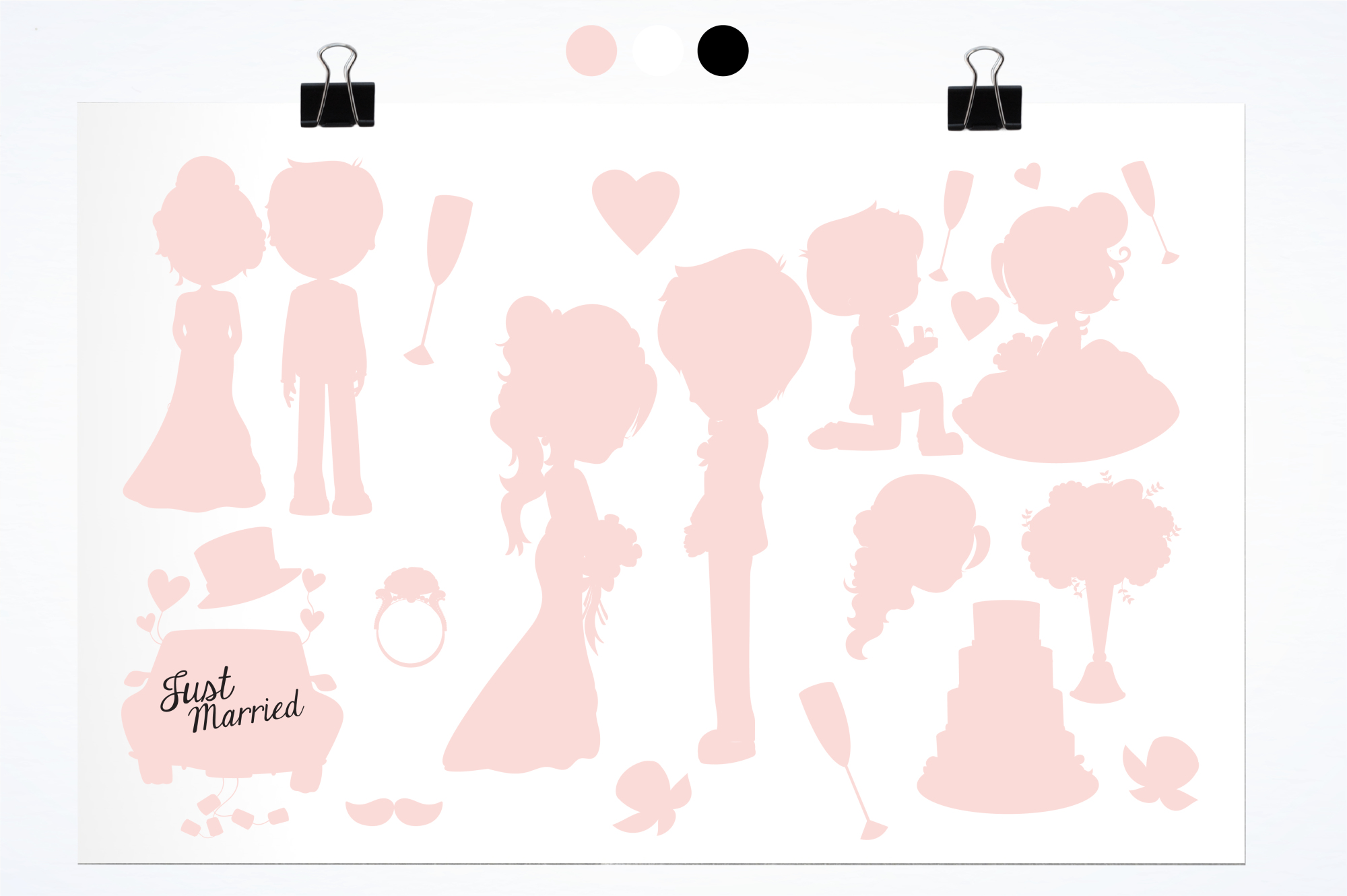 Wedding Silhouette graphics and illustrations example image 2