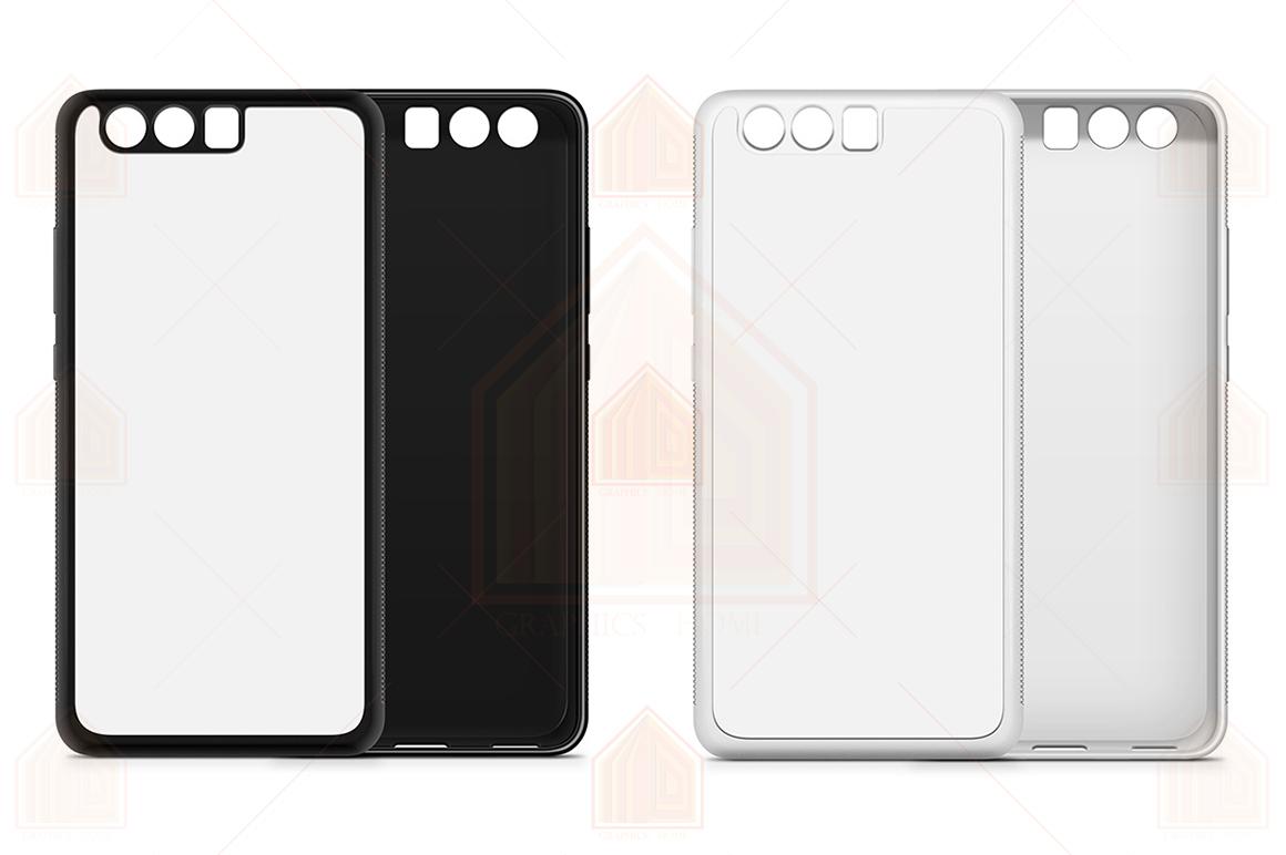 Huawei P10 Plus 2d RubberFlex Case Design Mockup Back-Front example image 2