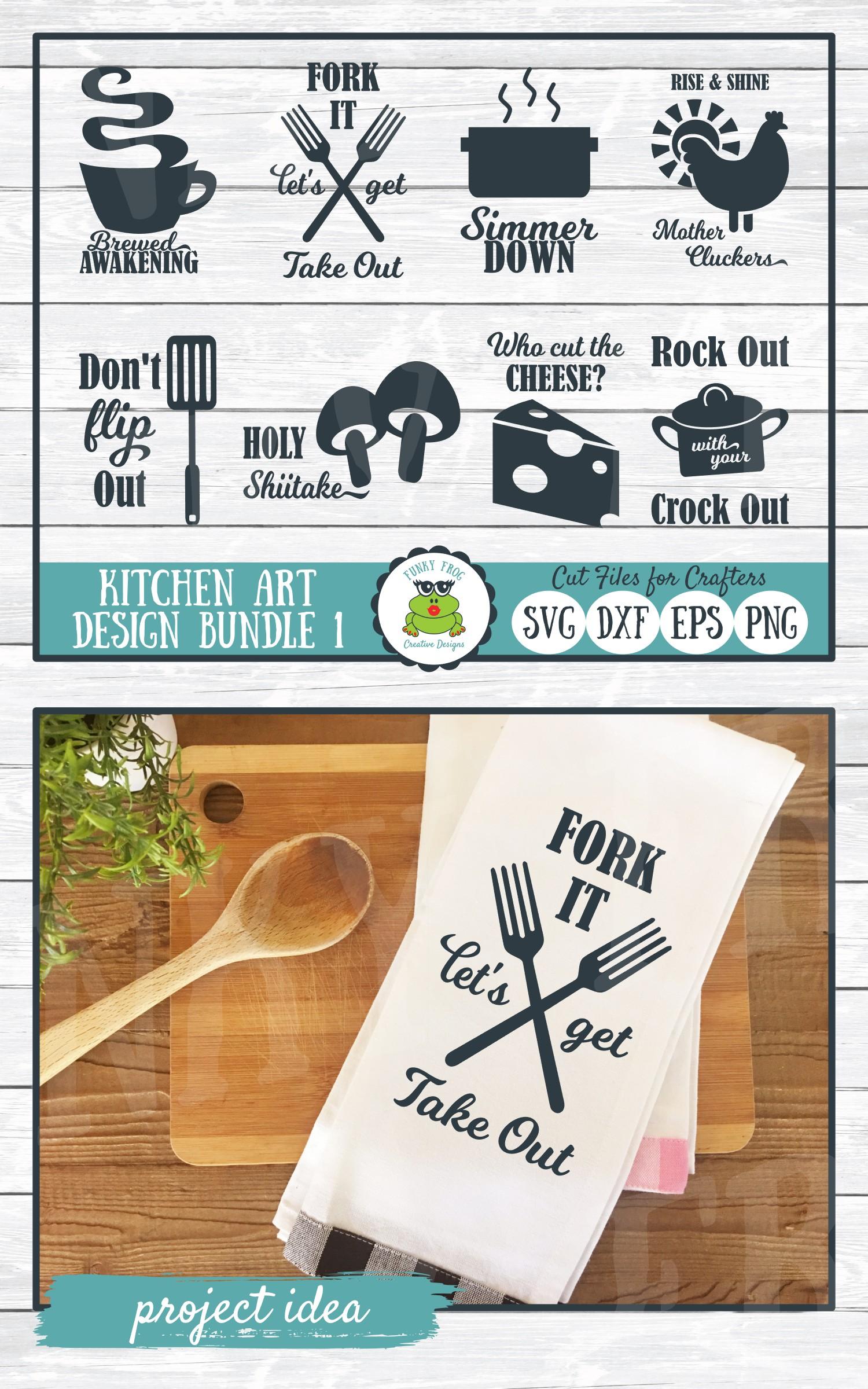 Kitchen Art Design Bundle 1- SVG Cut Files for Crafter example image 6