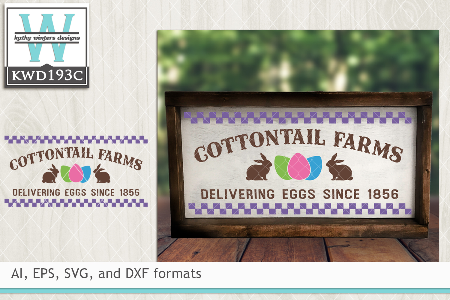 Easter SVG - Cottontail Farms example image 1