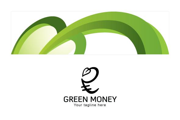 Green Money - Indian Rupee Icon Stock Logo example image 3