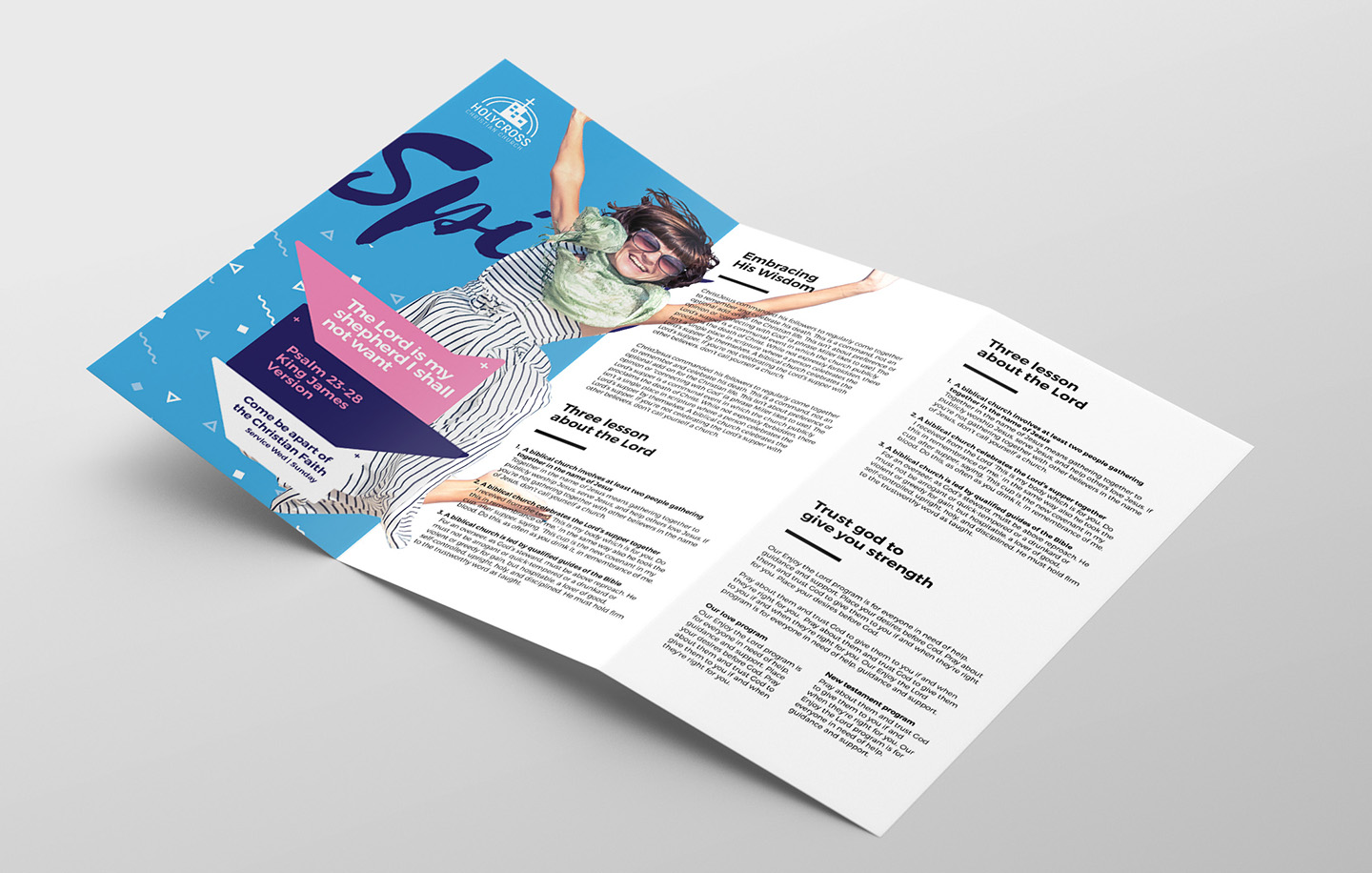 Easter Service Tri-Fold Brochure Template example image 2