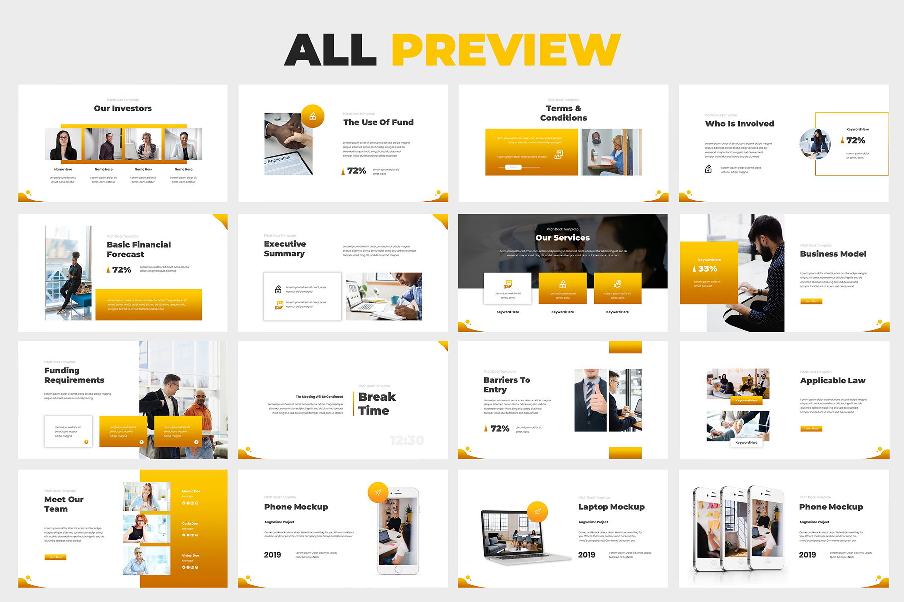 Investment Pitch Deck Google Slides example image 6