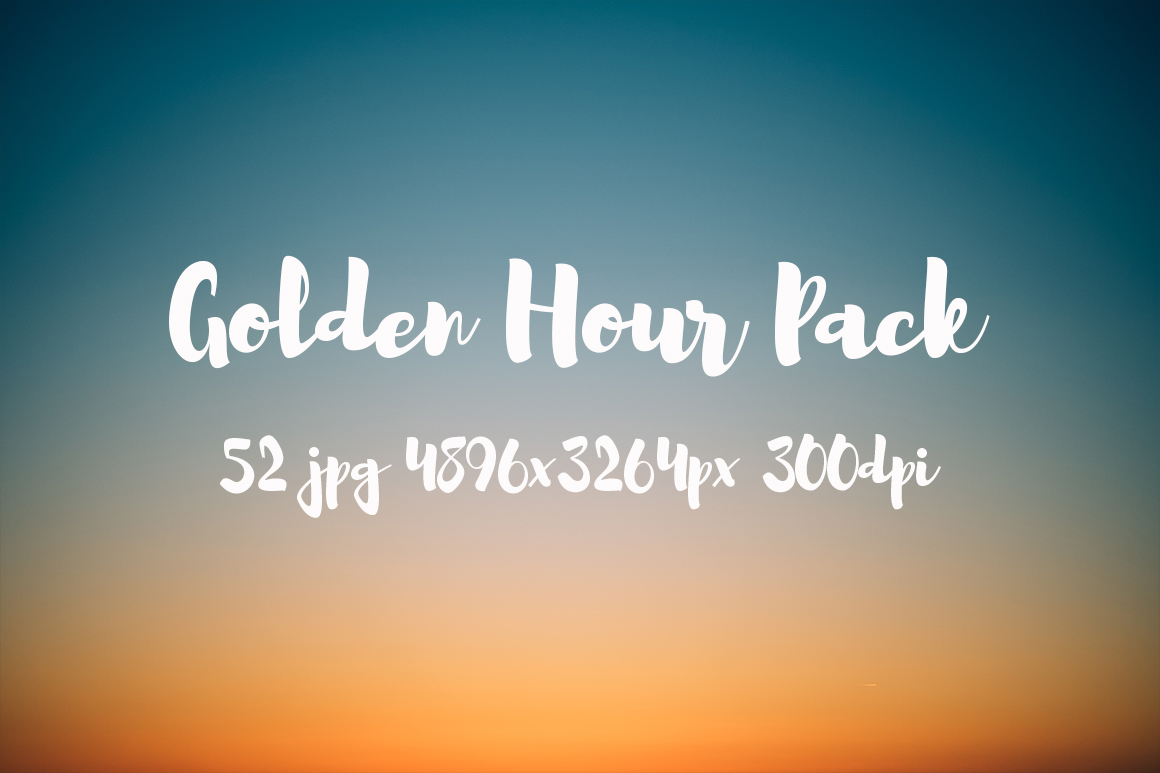 Golden hour Pack example image 1