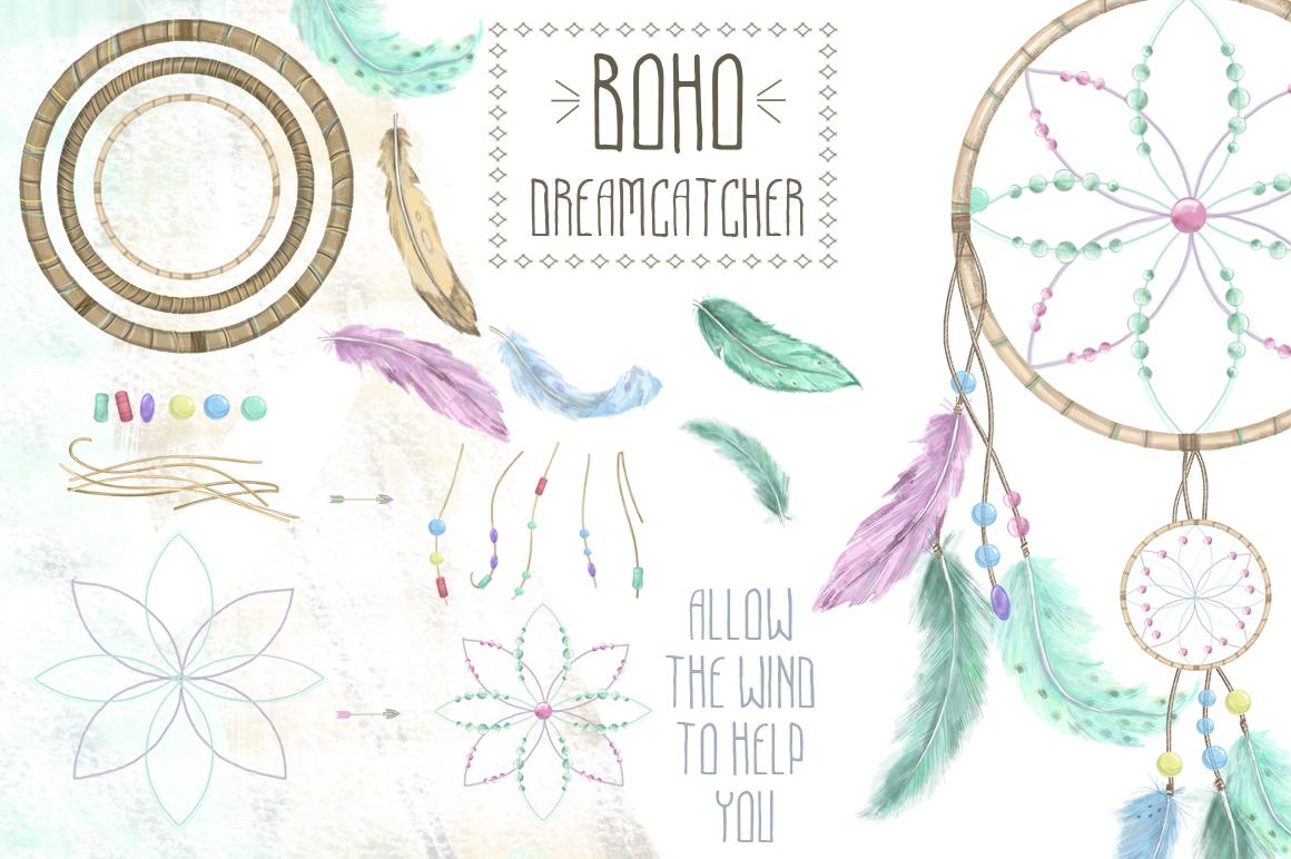 Dreamcatcher. Tribal Set example image 4