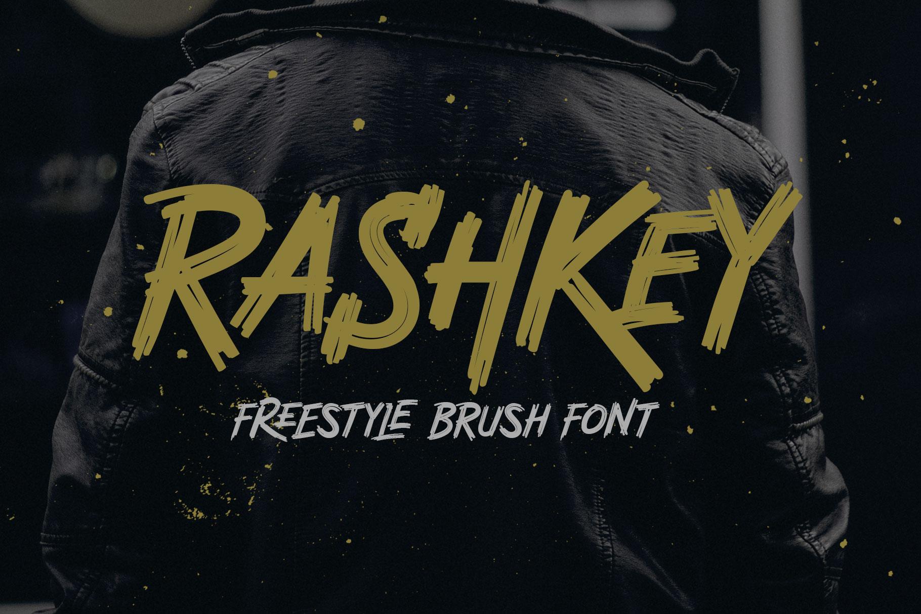 Rashkey Freestyle Brush Font example image 1