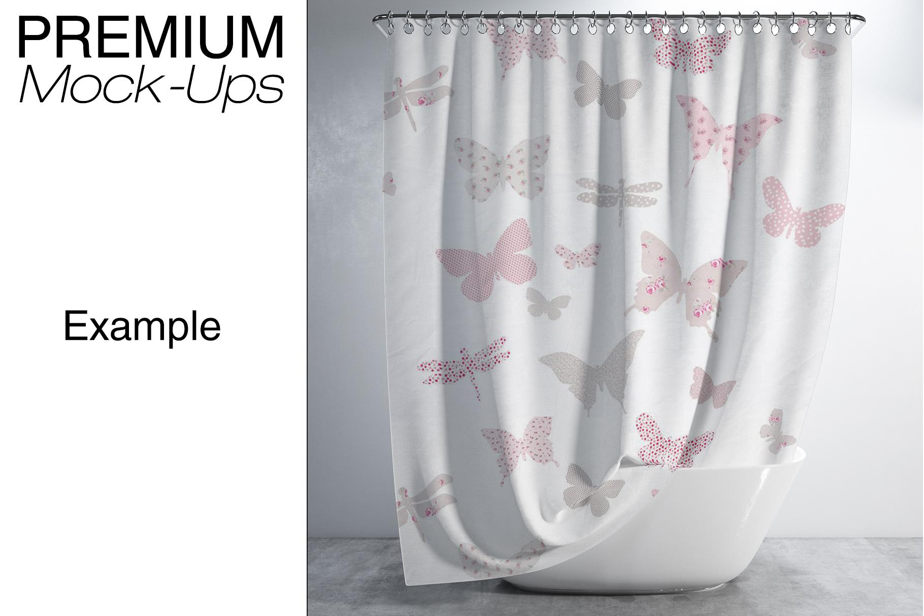 Bath Curtain Mockups example image 16