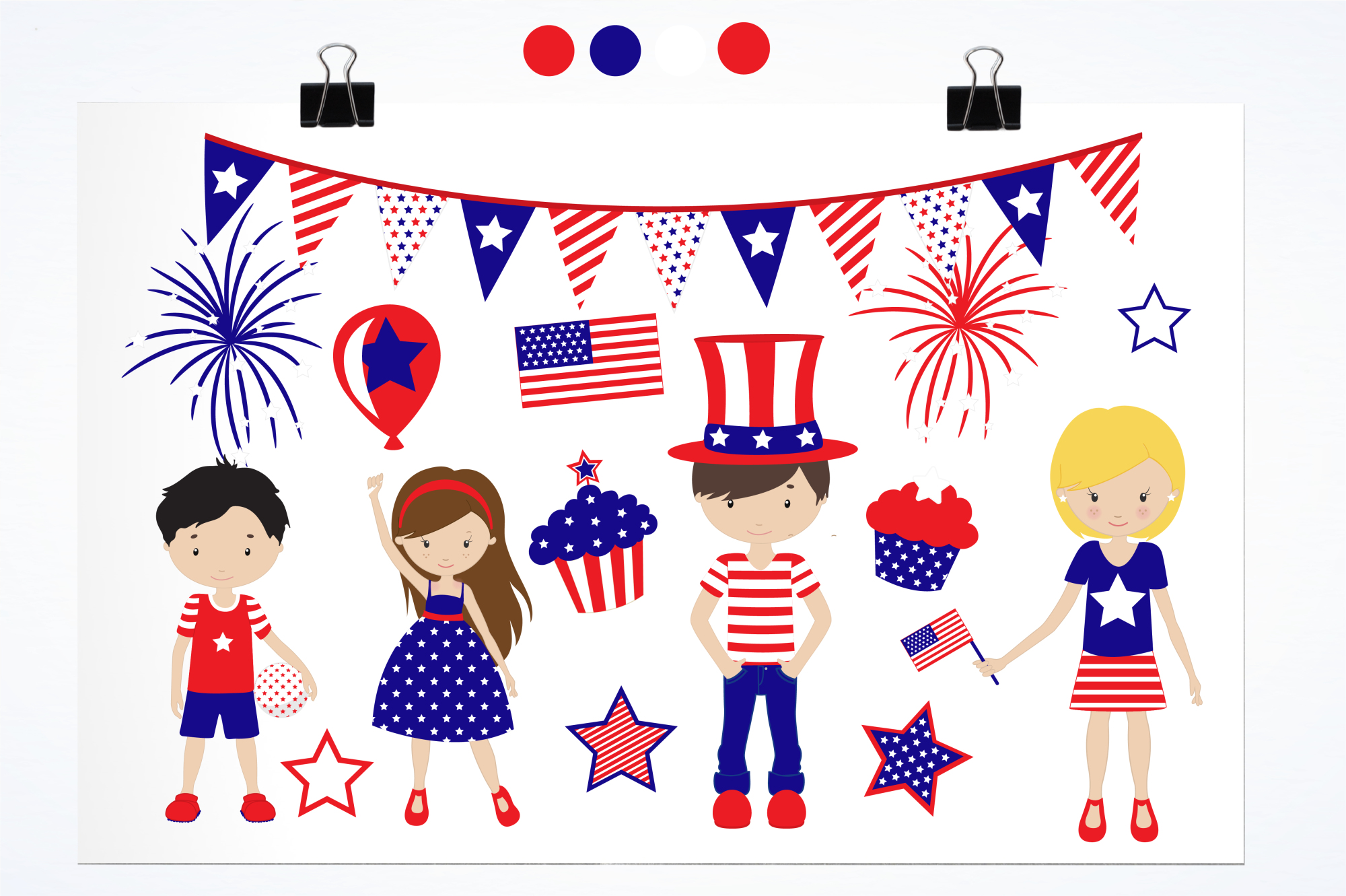 Independence Day graphics and illustrations example image 2