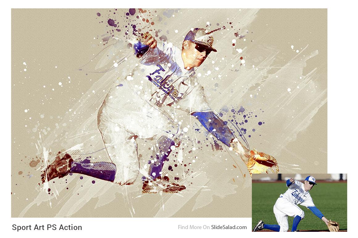 Sports Modern Art Photoshop Action example image 5