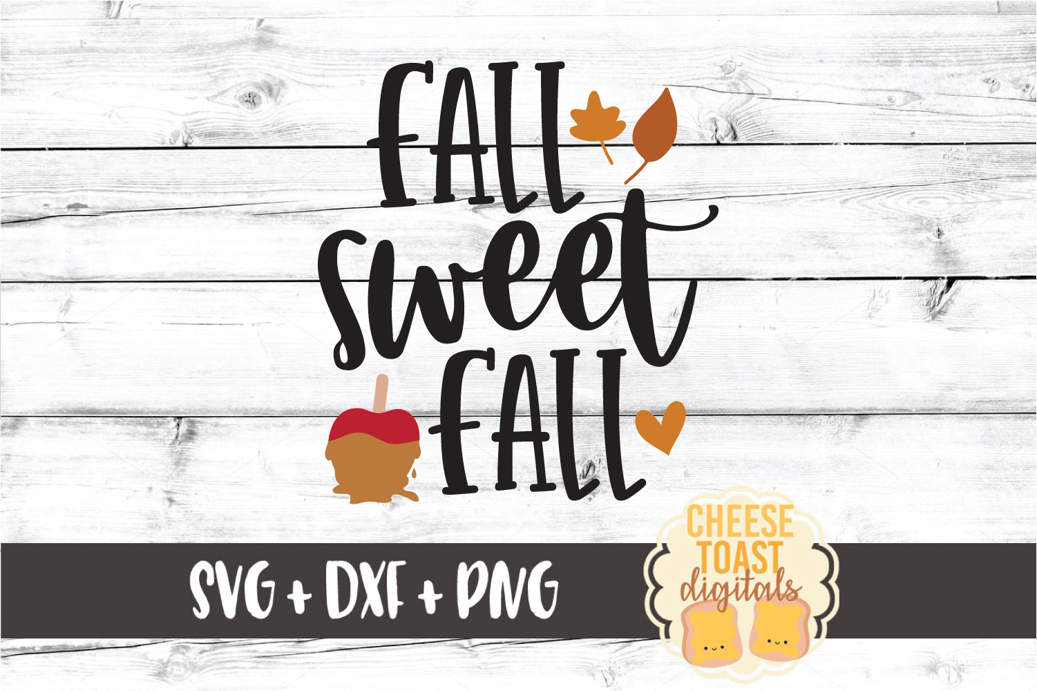 Fall Sweet Fall - Autumn Sign SVG PNG DXF Cut Files example image 2