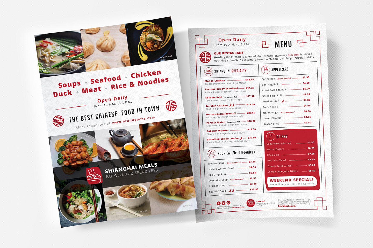 Chinese Menu & Flyer Template example image 8
