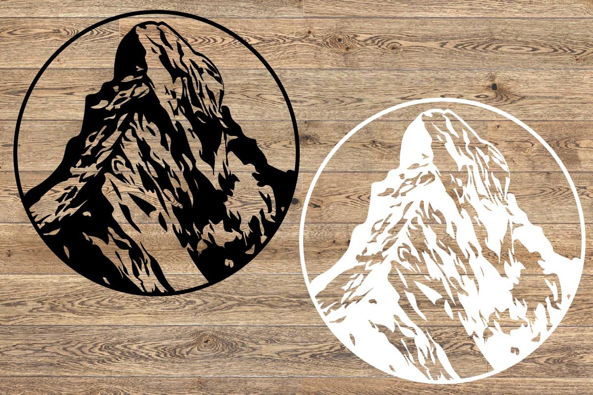 Matterhorn Mountains SVG Alps alpinism ski snow 1246S example image 2