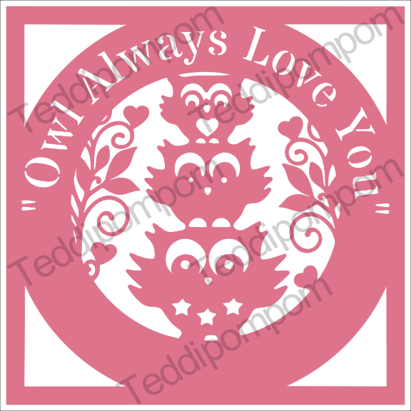 Owl Always Love You - Owl papercut SVG PNG example image 1