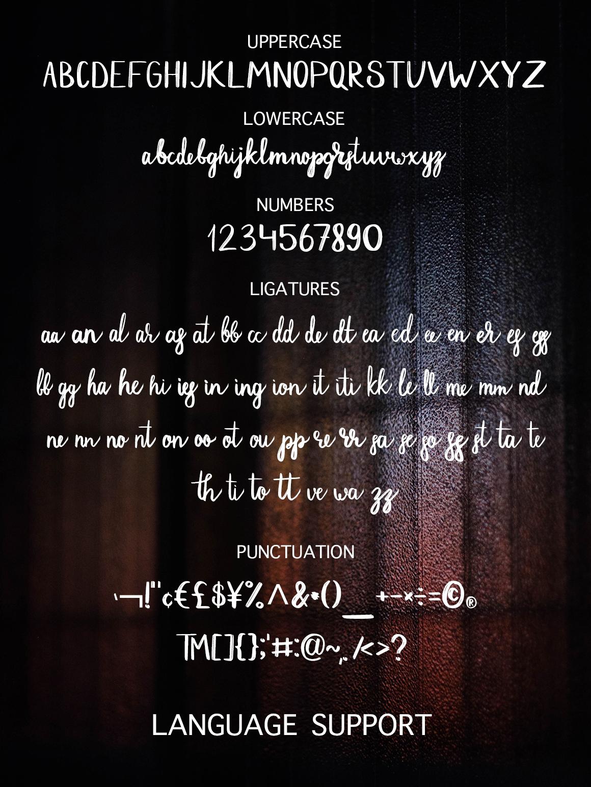 Dark Street - script font example image 6