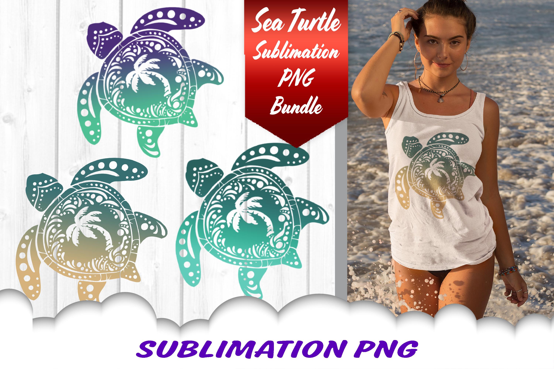 Sea Turtle Palm Beach Sublimation PNG Bundle example image 1