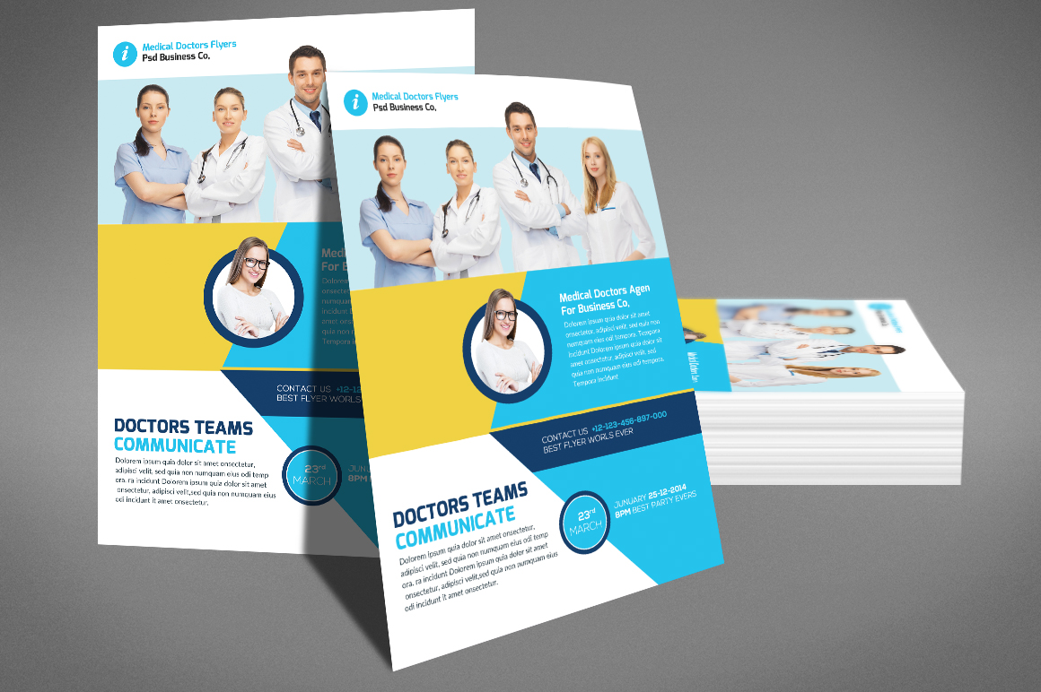 Medical Doctors Flyer psd example image 4