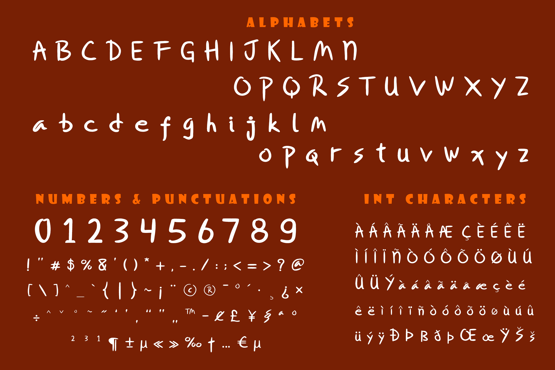 Miqeey Moose Happy Cute Font example image 5