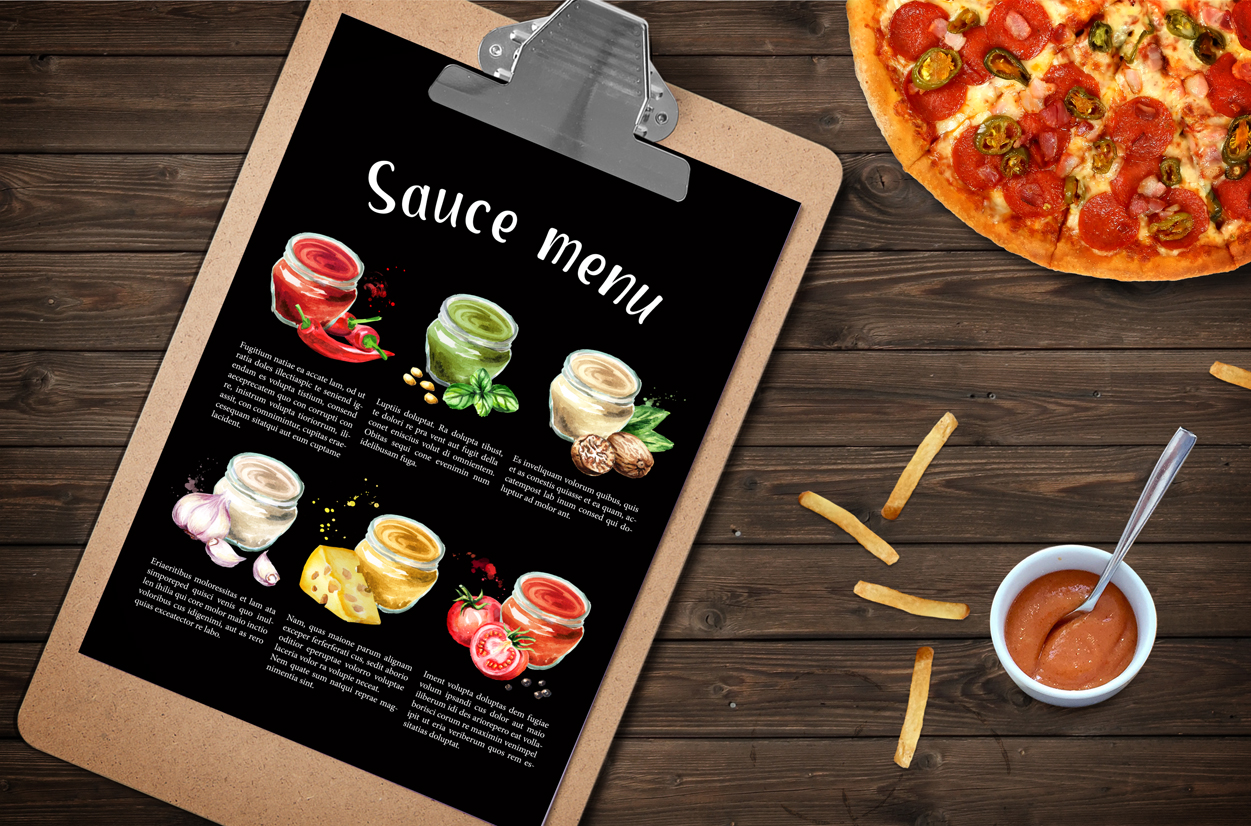Sauce collection. Watercolor set example image 5