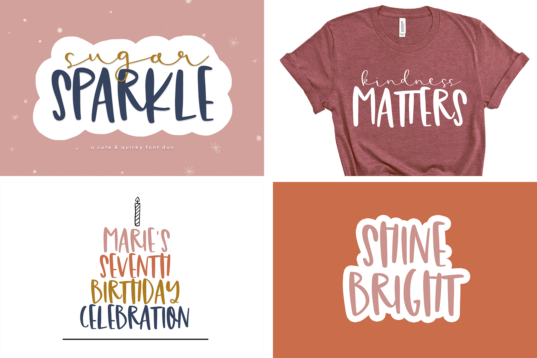Font Bundle - Handwritten Fonts for Crafters! example image 13