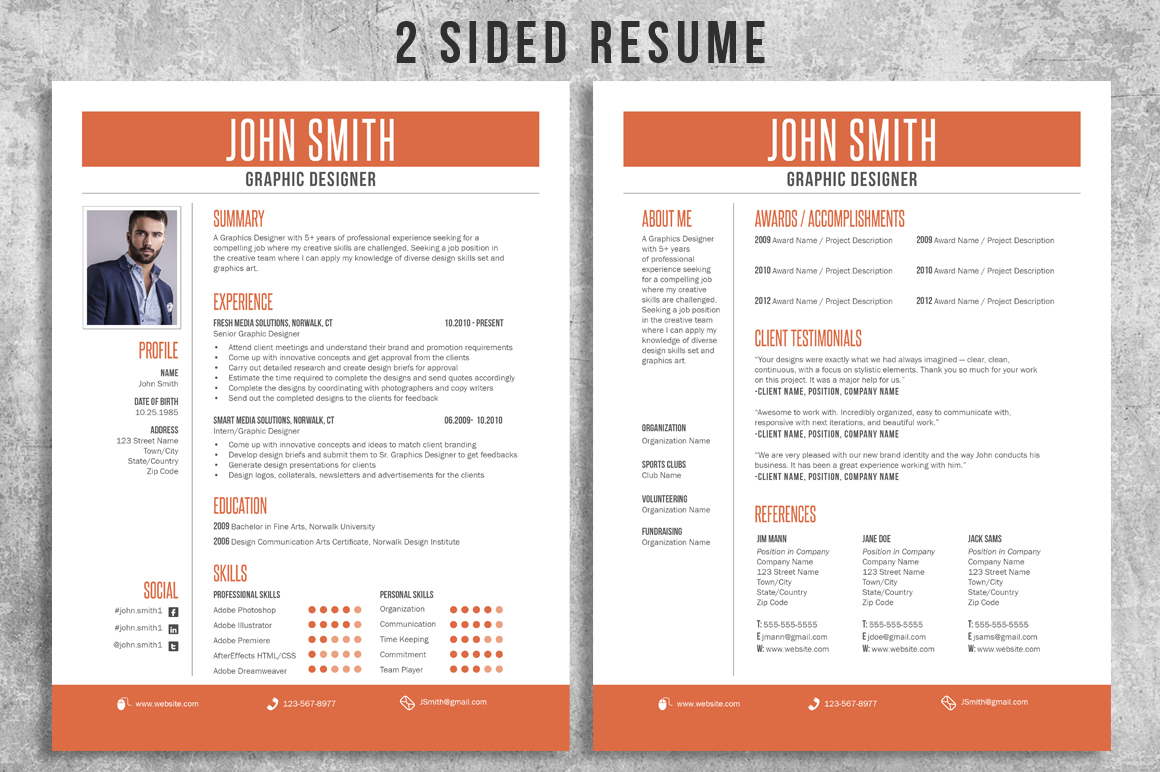Resume CV Bundle Pack example image 2