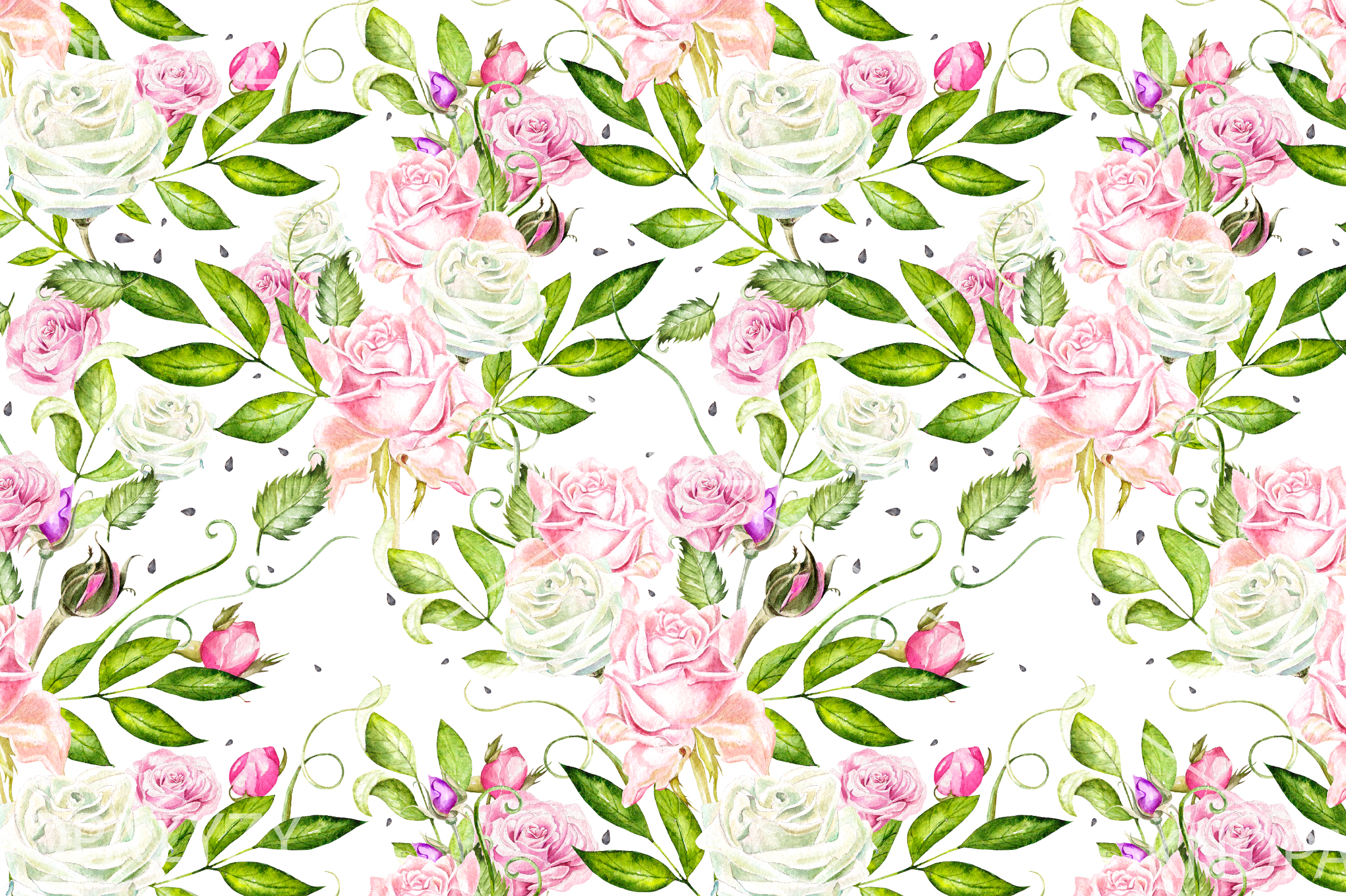 15 Hand Drawn Watercolor PATTERNS example image 7
