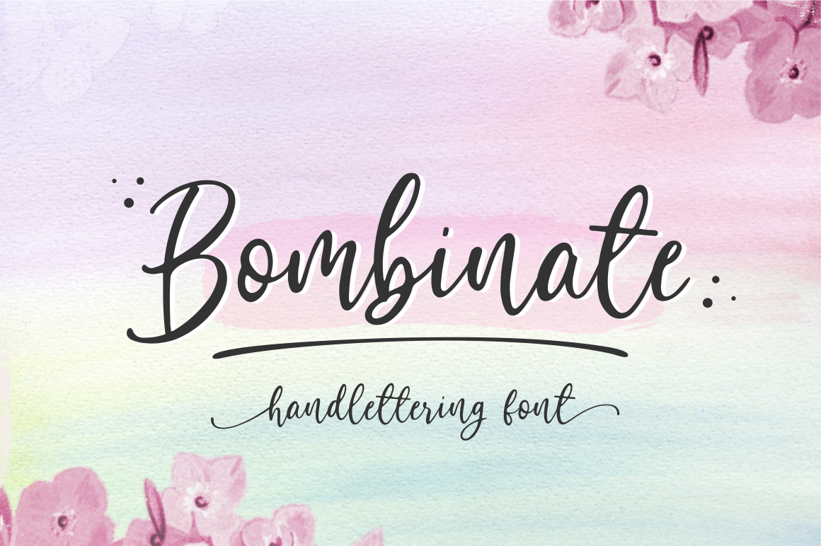 Bombinate // Handlettering Font example image 1