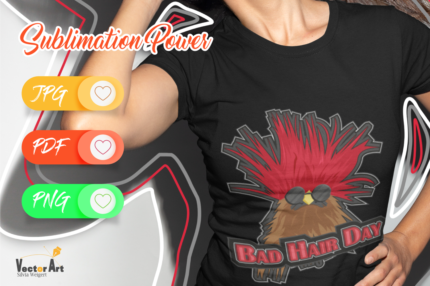 Bad Hair Day - Sublimation File for Crafter example image 2