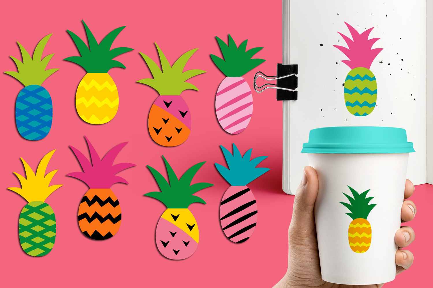 Pineapple Party Illustrations Bundle example image 4