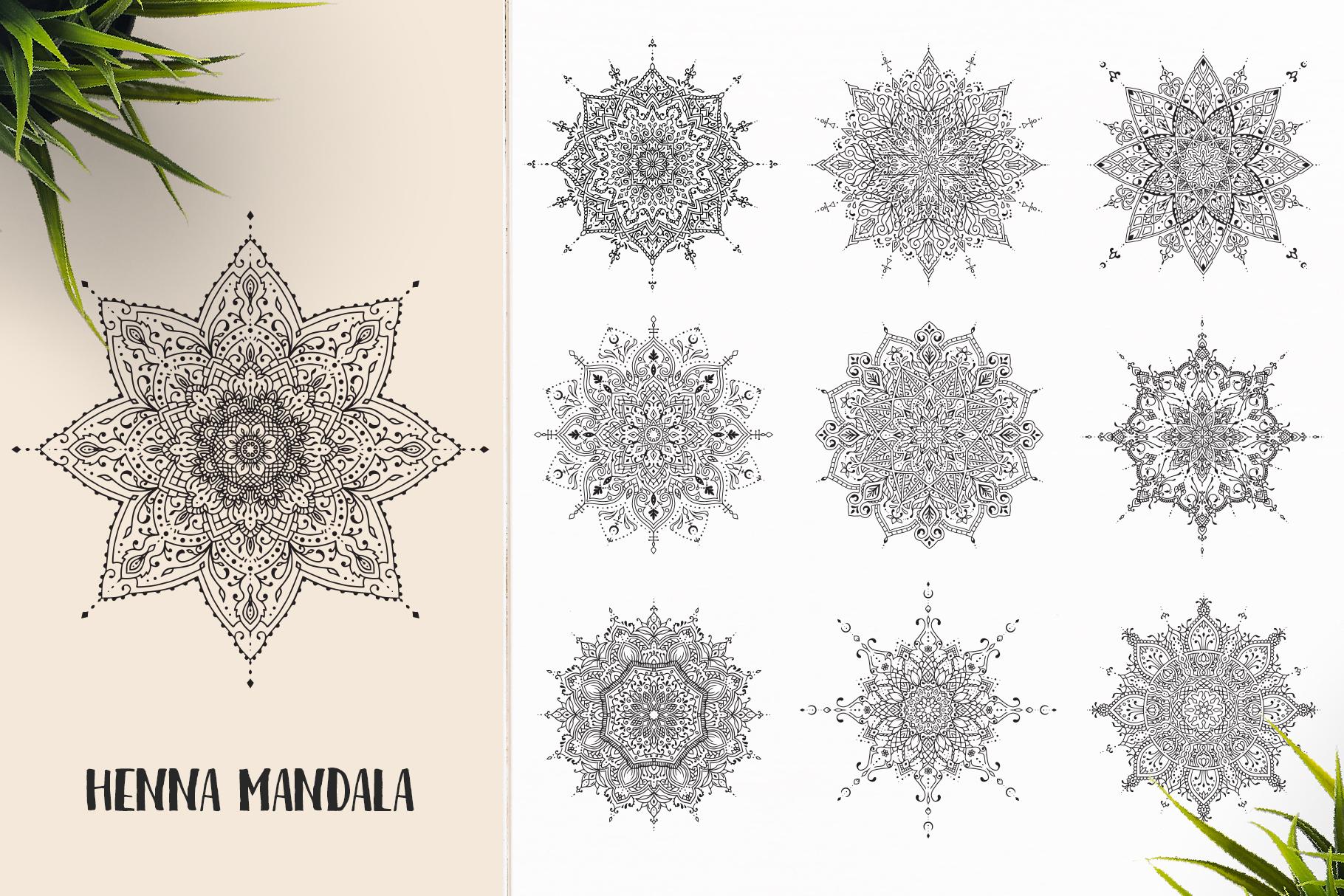 530 Vector Mandala Ornaments Bundle example image 15