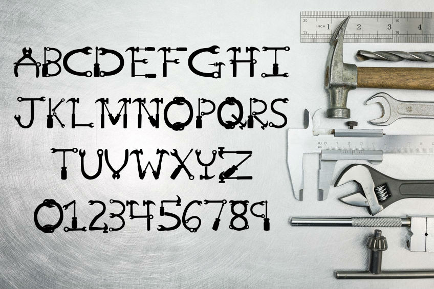 Mr Fix It - A Tool Font for Handy Men and Women example image 2