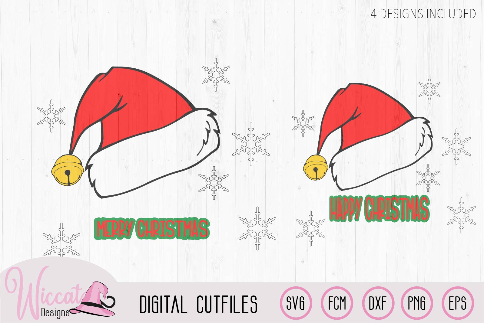 Christmas hat svg, Happy and Merry Christmas example image 3