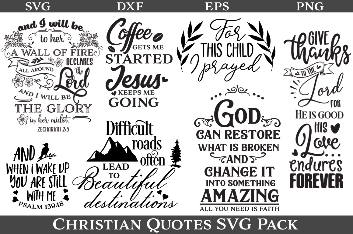 48 Christian Quotes SVG Pack example image 2