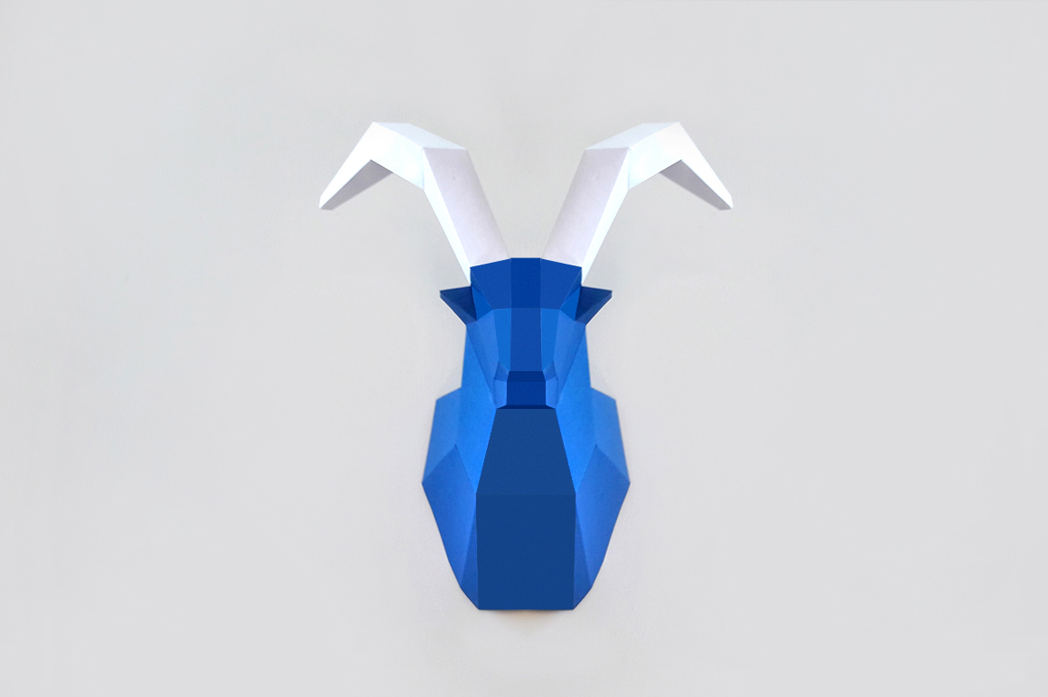 DIY Goat Trophy - 3d papercraft example image 3