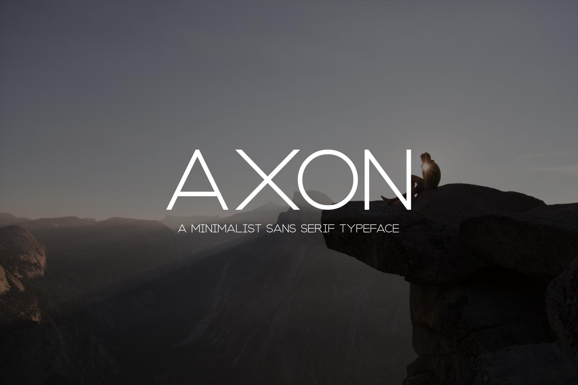 Axon | Minimalist Sans Serif Family example image 1