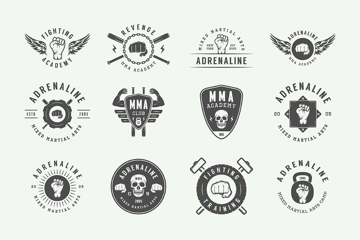 Vintage Fighting Emblems Bundle example image 6