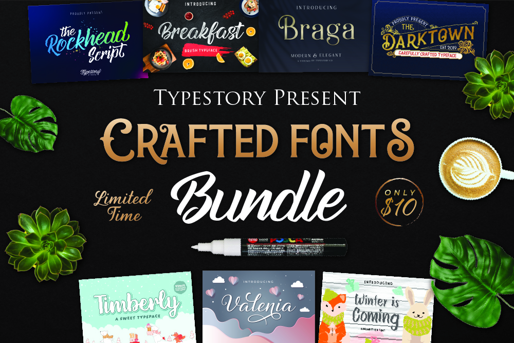 Crafted Font Bundle example image 1