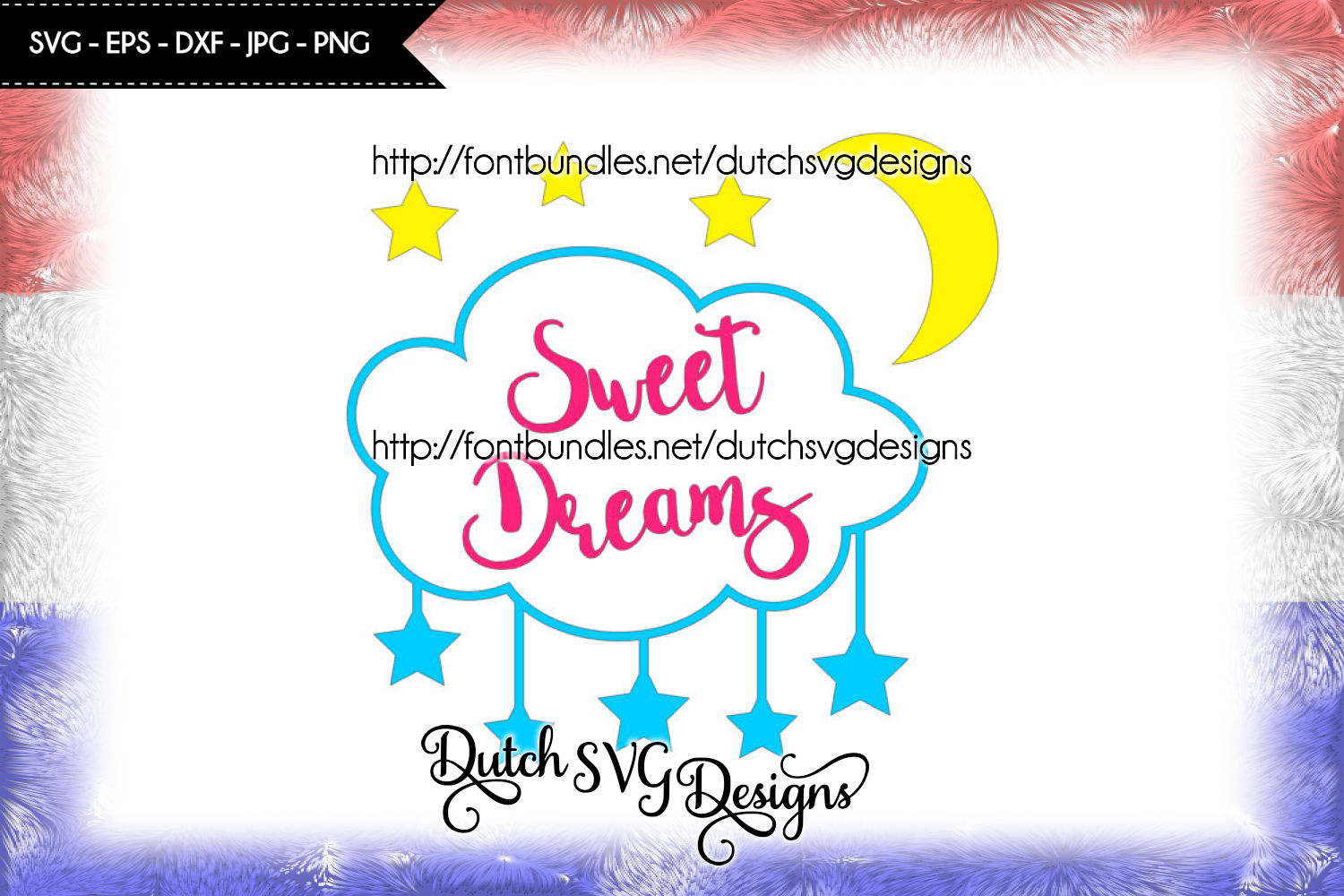 Cutting file Sweet Dreams example image 1
