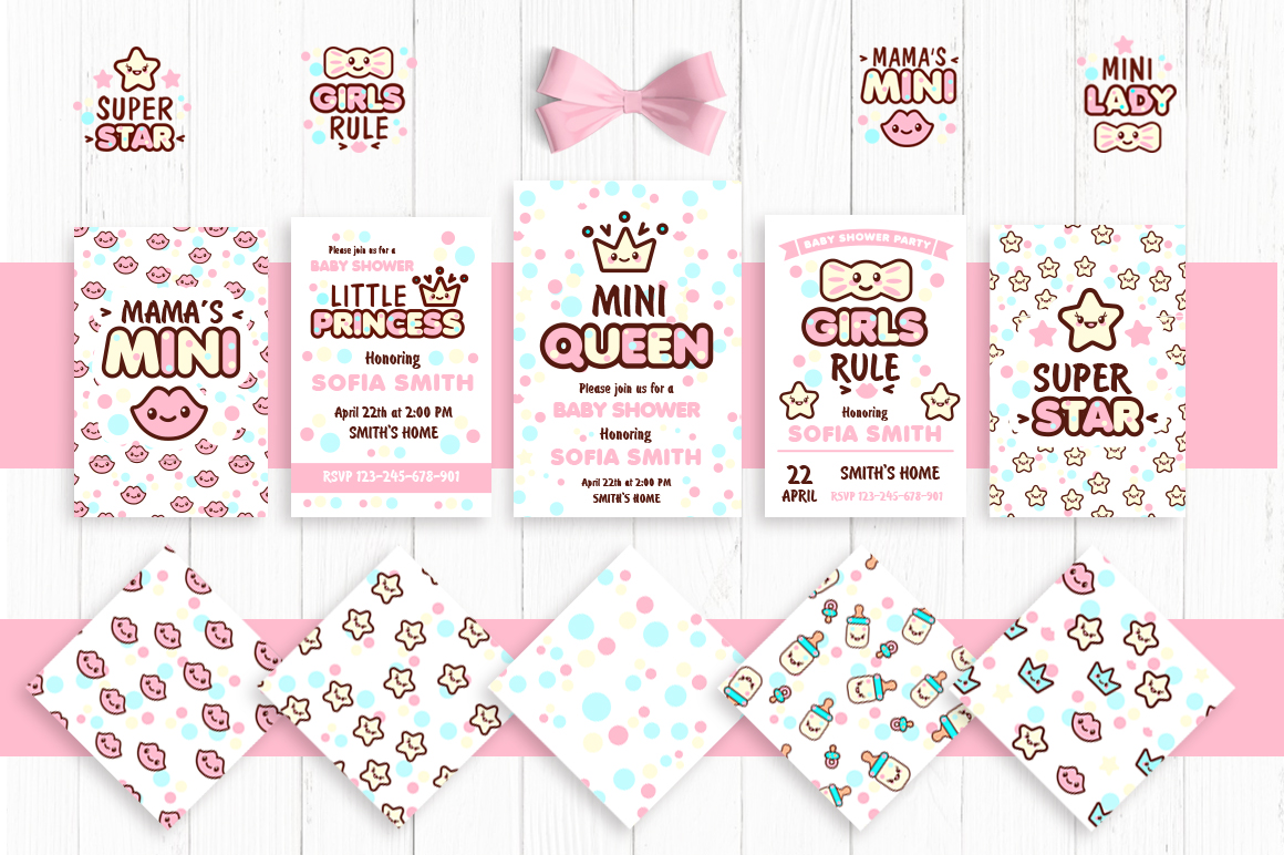 Cute vector prints for baby apparel example image 2