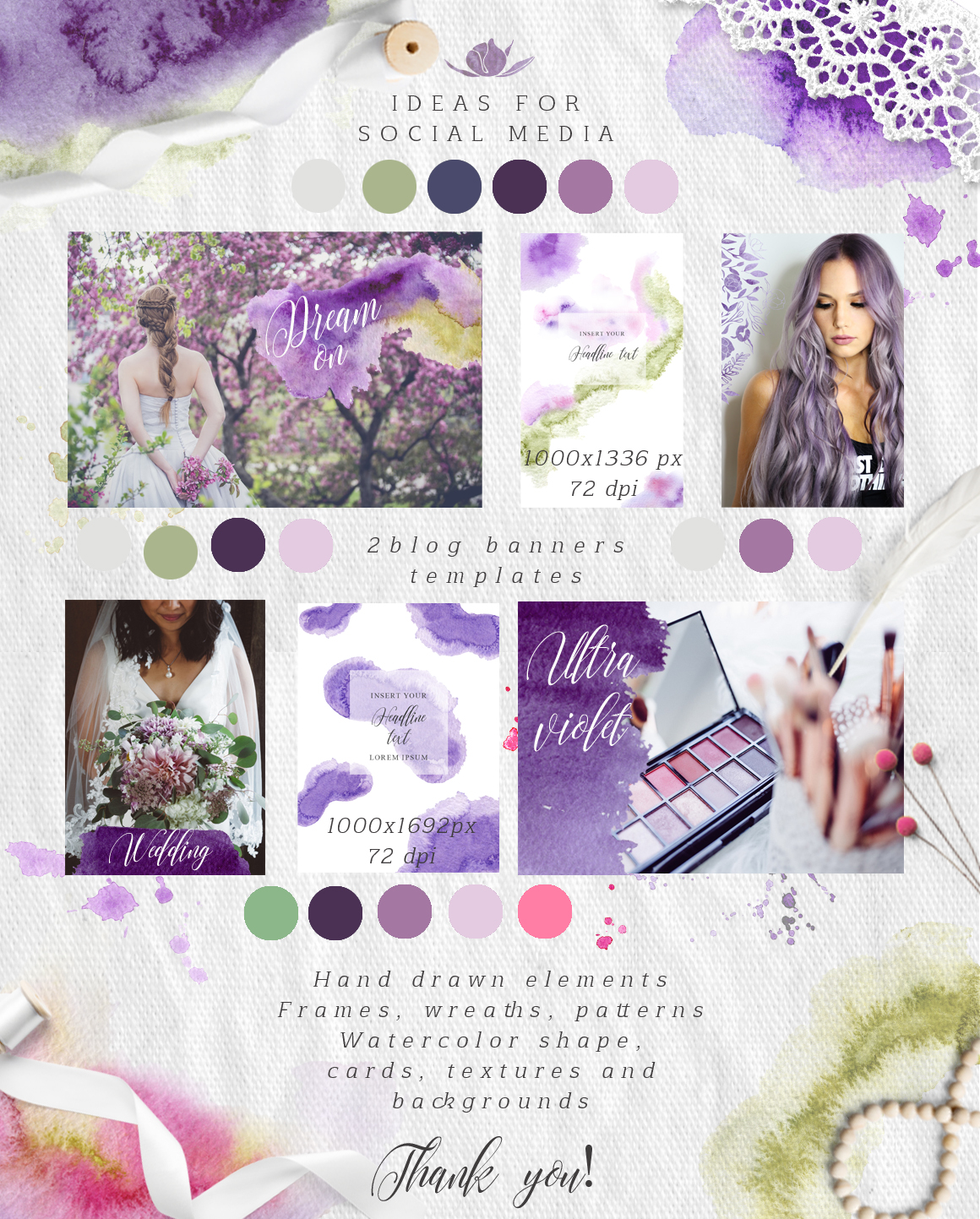 Ultra Violet watercolor collection example image 2