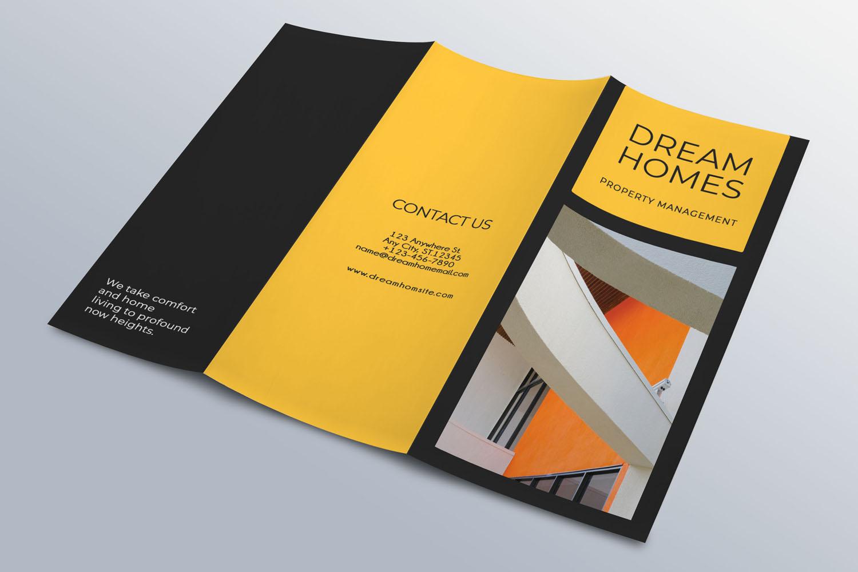 Trifold Real Estate Printable Brochure |Templates PSD/AI A4 example image 5