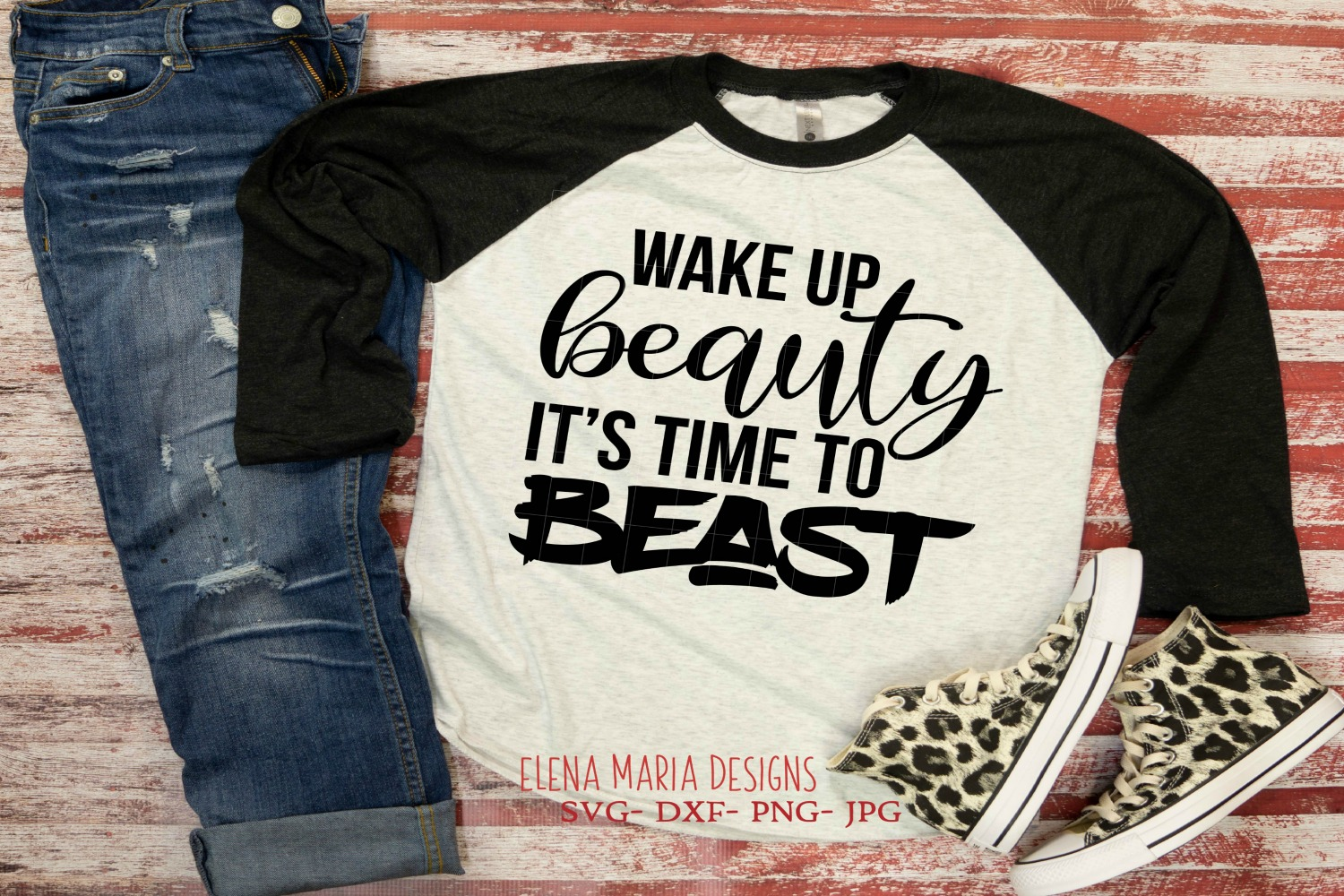 Motivational svg, Wake Up Beauty It's Time To Beast SVG example image 1