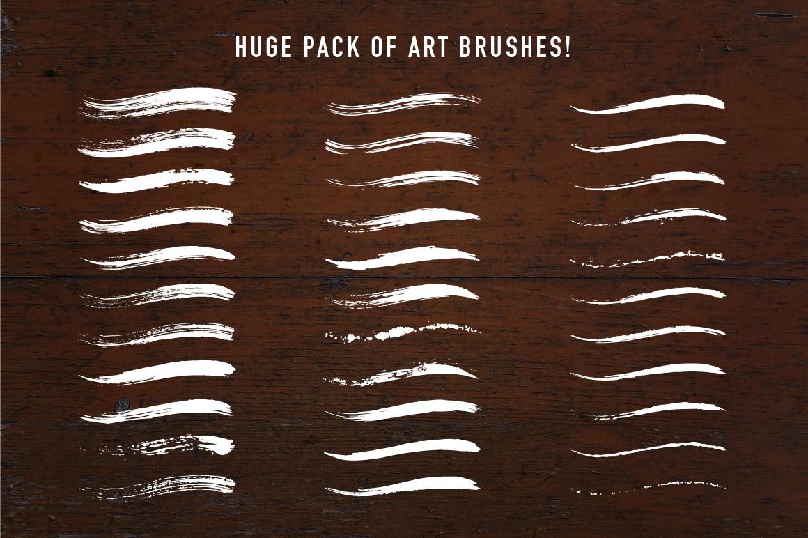 60+ Grunge Illustrator Brushes example image 2