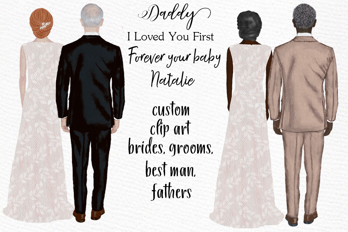 Bride and Groom clipart Wedding Clipart Wedding illustration example image 8