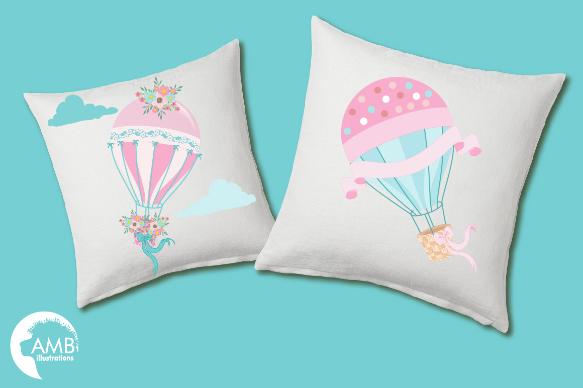 Hot Air Balloons, graphic, illustration, clipart AMB-1388  example image 3