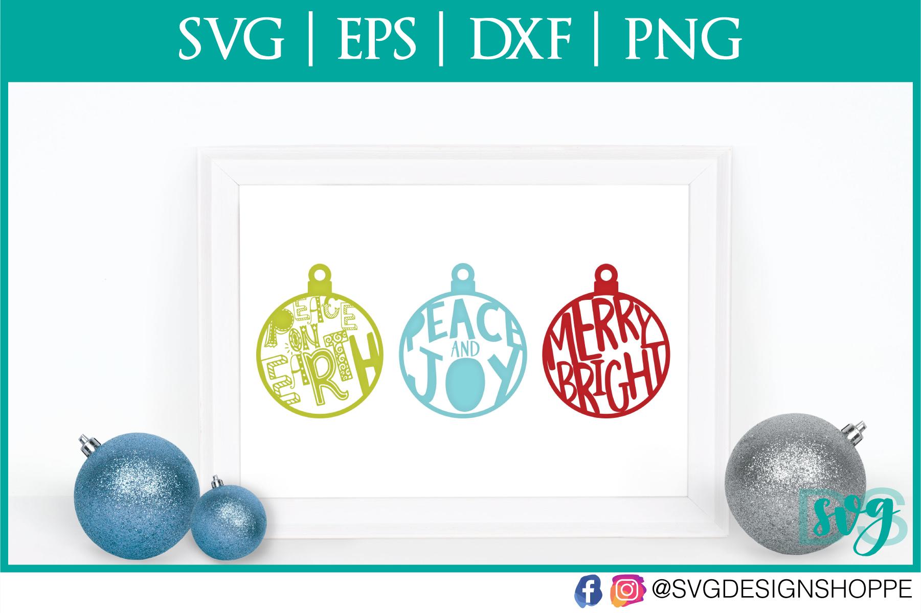Christmas Ornaments, Christmas, SVG, SVG files for Cricut example image 1